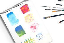 Water colour paint exercises