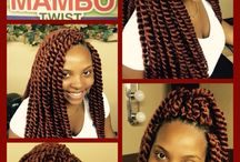 Crochet Hair styles. / Hair is Braided down and put away while extra hair is added to the head by using crochet method.