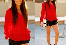Black&White and RED fashion / Look what happens when you mix BLACK&WHITE with the passionate RED …