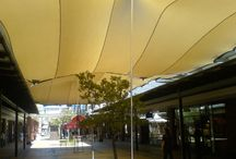 Stretch Tent Custom fits / The Stretch Tent Company can cover irregular and unusual outdoor spaces with our Custom Fit Service