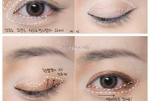 Asian style make-up