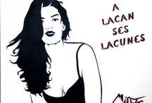 Miss Tic - Pochoirs / Des pochoirs originaux en édition limitée de 14 exemplaires ! Les Muses de Miss Tic amusent avec leurs belles déclarations..