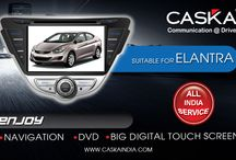Caska suitable for Hyundai Elantra / Best selling all in one GPS Navigation system in INDIA at best prices. Features Touchscreen, Audio, Video, Music player. Add on Rear camera and tyre pressure monitoring System for Hyundai Elantra.