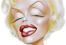 caricature - Marilyn Monroe