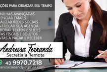 Secretária Remoto / Apoio ao empresário ou profissional liberal e pessoas físicas nas atividades diárias correspondente ao secretariado.