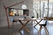 Rachel Bobois's Oxymore wide and wooden dining table