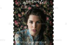 Graduation Invites & Announcements / A smorgasbord of designer graduation invitations & announcements! / by mistyqe