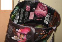 Confection de sac avec paquet de cafe