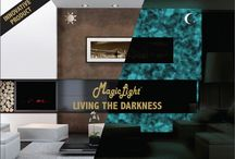 Magic Light / Magic Light is the new Valpaint Product. A transparent water-based paint that absorbs light returning it in complete darkness.