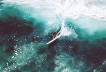 surfing, diving, saling and water