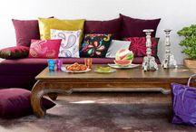 Décoration Indienne / Des idées et une sélection d'objets décoratifs en tout genre: guirlandes éléphants, linge de maison, tentures pour créer chez soi une décoration indienne colorée et exotique!