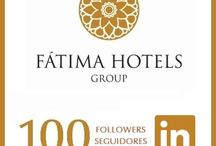 Social Media Followers & Fans / Images of the numbers of Followers and Fans of FÁTIMA HOTELS Group on Social Media networks.