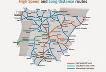 Rail Pass, Rail Routes - Global / Rail way travel - Travel in train