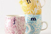mug and 瓷器