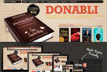 Book shops website templates
