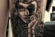 indian woman tattoo