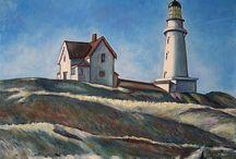 Hopper, Edward / Edward Hopper (Nyack (New York), 22 juli 1882 – New York City, 15 mei 1967) was een Amerikaans kunstschilder die schilderijen maakte met typisch Amerikaanse thema's. Zijn schilderijen behoren tot het realisme en de American scène.
