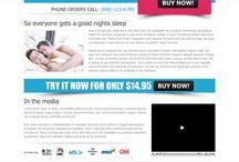 anti snoring landing page design