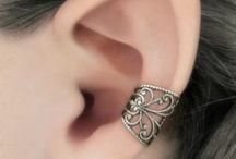 earrings and cuffs