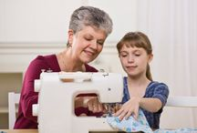 a teaching sewing