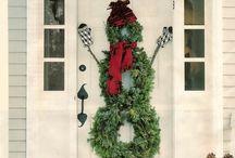 χιονάνθρωπος   πορτας ελατακια