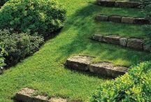 ogród schody