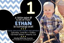 Noah's First Birthday / Baby first birthday, baby mickey themed / by Nadine Ruiz