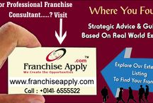 Franchise Consultant & Opportunities In India / Looking for professional franchise consultant in India who have wide experience in franchise field or searching for future secure franchise opportunities in India then your are the right destination because Franchiseapply a well know franchise consultant in India where you found massive beneficial franchise opportunities. Know more visit our website.