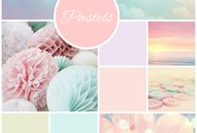"""Pastel Colors / """"Colors are the smiles of nature.""""   Leigh Hunt"""