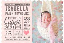 Baby announcment / by Brandi Homeyer
