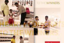 "Vanitha Fair winners / Lucky draw winners from Vanitha Onam Fair held at Palakkad receiving ""Gold Coins"". Congratulations to the winners. #akshayagold #celebration #winners #gold"