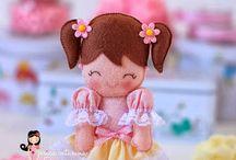 bambole in feltro