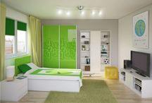 NUMERI - kolekcja mebli młodzieżówych / Cyfry w połączeniu z energetyczną zielenią czy kształty owalne wraz z intrygującym fioletem? Wybierz kolor i wzór, który będzie najlepszy dla Ciebie. Z tymi kolekcjami każde wnętrze nabierze wyjątkowego charakteru.
