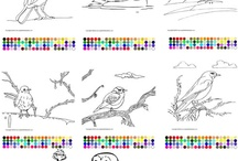 Bird Day Thematic Unit - Birds Unit of Study / Teacher resources for Bird Day.  Bird coloring pages, thematic reading list, bird stories, bird poems and interactive games. / by Apples4theTeacher.com