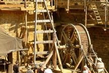 Chateuau de Guedelon / A team of archaeologists and master builders in France are building a castle using only medieval techniques... similar to our very own Norman Oakham Castle