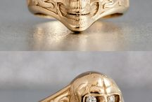 Badass Rings: Skulls, Animals, Monsters & More / Represent the rebel lifestyle.