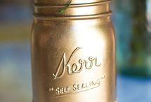 Mason jar dec ideas / Wedding