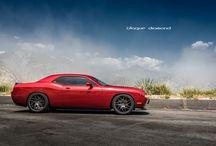 2014 Dodge Challenger Fitted With 22 Inch BD-3's in Matte Graphite / Go to www.blaquediamond.com to check out our complete range