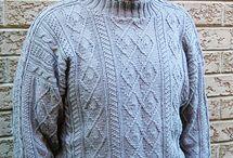 Knitting. Sweaters