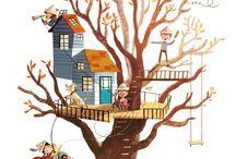 U. Hule i træ
