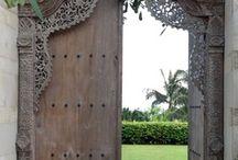 Bali style front door