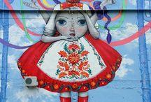 """Motanka dolls / Motanka is kind of Ukrainian doll, kind of """"guardian of the household"""