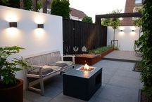 onderhoudsvriendelijke achtertuin / Achtertuin welke is ontworpen en aangelegd door Teo van Horssen Hoveniers. De inrichting van de tuin is strak en bijna onderhoudsvrij.