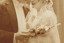 Vintage wedding cards