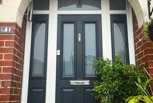 Black front doors