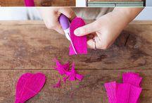 crepe papier flowers