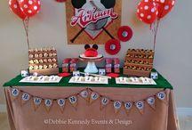 Mickey baseball / Mickey Baseball birthday party  Debbie Kennedy Events & Design www.debbiekennedyevents.com Scottsdale, AZ