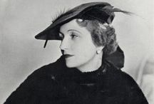 ~~ Madame Agnes ~~ / Born in the late 1800's. France's most popular milliner, famous for cutting the brims of her hats while they were worn by her customers. Trained under Caroline Reboux, and established her own salon in 1917 on the rue du Faubourg St. Honore in Paris, the street where all the great couturiers had their salons.  Madame Agnes retired in 1949, and died a short while later.