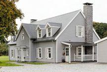 Grey Georgian Colonial House