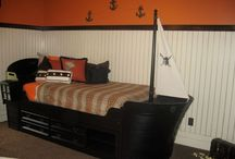 Pirate kids rooms / My son wants a pirate room. I am gathering inspiration for the project.